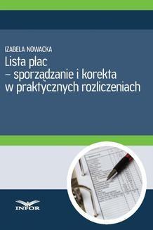 Chomikuj, ebook online Lista płac – sporządzanie i korekta. Aldona Salamon