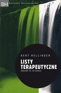 Chomikuj, ebook online Listy terapeutyczne. Znaleźć to, co działa. Bert Hellinger