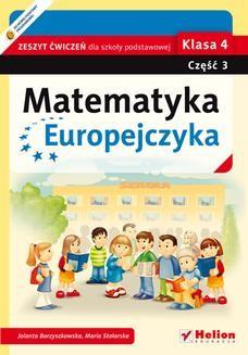 Ebook Matematyka Europejczyka. Zeszyt ćwiczeń dla szkoły podstawowej. Klasa 4. Część 3 pdf