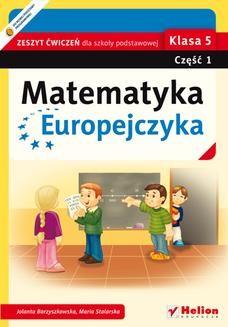 Ebook Matematyka Europejczyka. Zeszyt ćwiczeń dla szkoły podstawowej. Klasa 5. Część 1 pdf