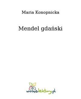 Ebook Mendel gdański pdf