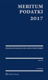 Ebook MERITUM Podatki 2017 pdf