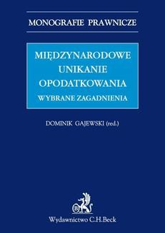 Ebook Międzynarodowe unikanie opodatkowania. Wybrane zagadnienia pdf