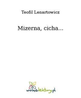 Ebook Mizerna, cicha… pdf