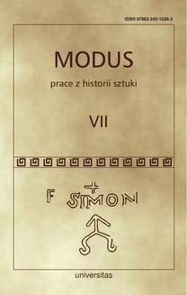 Chomikuj, ebook online Modus. Prace z historii sztuki. Tom VII. Wojciech Bałus
