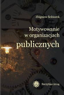 Ebook Motywowanie w organizacjach publicznych pdf