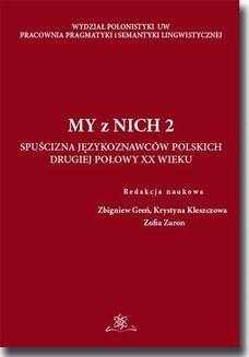Chomikuj, ebook online My z Nich 2. Zofia Zaron