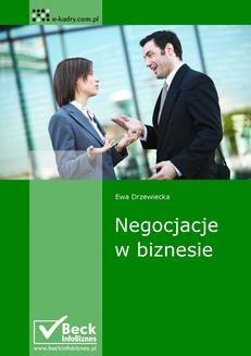 Chomikuj, ebook online Negocjacje w biznesie. Ewa Drzewiecka