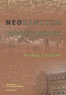 Chomikuj, ebook online Neokantyzm badeński i marburski. Antologia tekstów. redakcja: Andrzej J. Noras