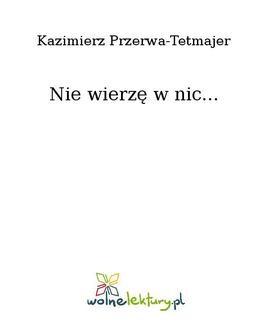 Ebook Nie wierzę w nic… pdf