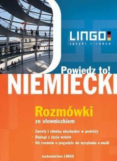 Chomikuj, pobierz ebook online Niemiecki. Rozmówki. Powiedz to!. Piotr Dominik