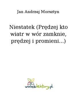 Chomikuj, ebook online Niestatek (Prędzej kto wiatr w wór zamknie, prędzej i promieni…). Jan Andrzej Morsztyn