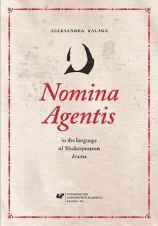 Chomikuj, ebook online Nomina Agentis in the language of Shakespearean drama. Aleksandra Kalaga