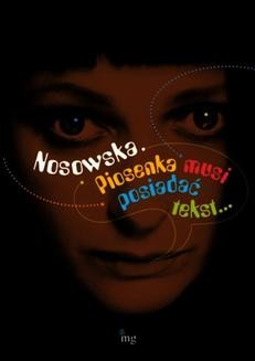 Chomikuj, ebook online Nosowska. Piosenka musi posiadać tekst. Praca zbiorowa
