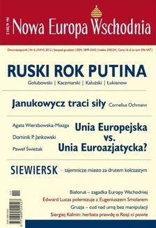 Chomikuj, ebook online Nowa Europa Wschodnia 6/2012. Zespół autorów