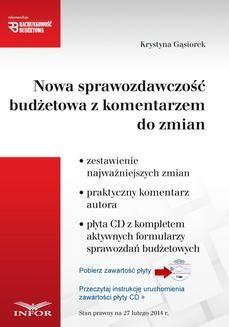 Ebook Nowa sprawozdawczość budżetowa z komentarzem pdf