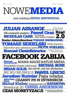 Chomikuj, ebook online NOWE MEDIA pod redakcją Eryka Mistewicza Kwartalnik 3/2013. Eryk Mistewicz