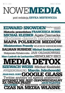 Chomikuj, ebook online NOWE MEDIA pod redakcją Eryka Mistewicza Kwartalnik 5/2013. Eryk Mistewicz