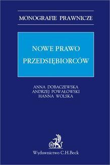 Chomikuj, ebook online Nowe prawo przedsiębiorców. Anna Dobaczewska