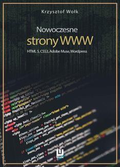Chomikuj, ebook online Nowoczesne strony WWW. HTML5, CSS3, Adobe Muse, WordPress. Krzysztof Wołk