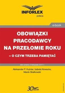 Ebook Obowiązki pracodawcy na przełomie roku – o czym trzeba pamiętać pdf