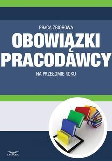 Ebook Obowiązki pracodawcy na przełomie roku pdf