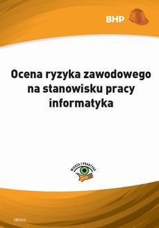 Chomikuj, ebook online Ocena ryzyka zawodowego na stanowisku pracy informatyka. Lesław Zieliński