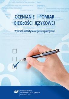 Ebook Ocenianie i pomiar biegłości językowej. Wybrane aspekty teoretyczne i praktyczne pdf