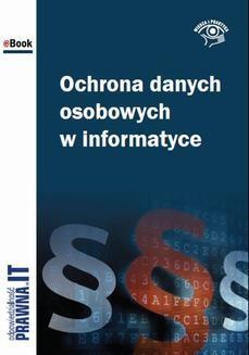 Ebook Ochrona danych osobowych w informatyce pdf