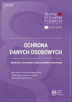 Chomikuj, ebook online Ochrona danych osobowych – wydanie październik 2014 r.. Xawery Konarski