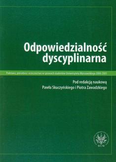 Ebook Odpowiedzialność dyscyplinarna pdf
