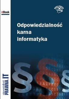 Ebook Odpowiedzialność karna informatyka pdf