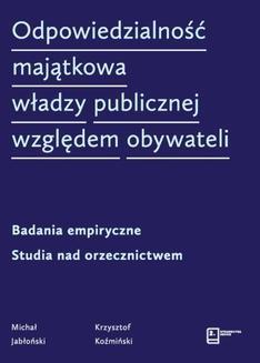 Chomikuj, ebook online Odpowiedzialność majątkowa władzy publicznej względem obywateli. Michał Jabłoński