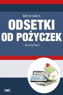 Ebook Odsetki od pożyczek w kosztach pdf
