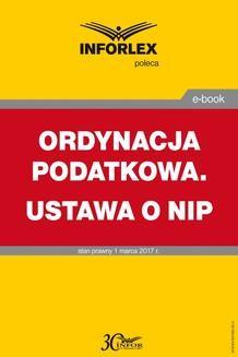 Chomikuj, ebook online Ordynacja podatkowa. Ustawa o NIP. Praca zbiorowa