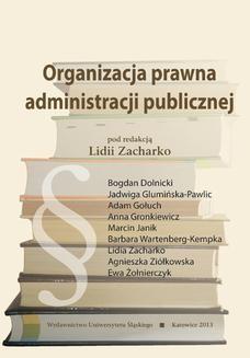 Chomikuj, ebook online Organizacja prawna administracji publicznej. red. Lidia Zacharko
