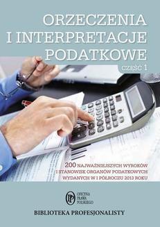 Chomikuj, ebook online Orzeczenia i interpretacje podatkowe. Część 1. Praca zbiorowa