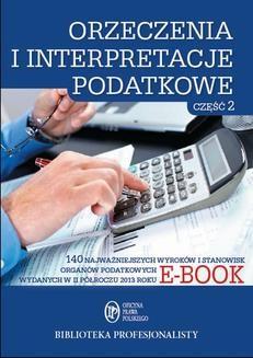 Ebook Orzeczenia i interpretacje podatkowe. Część 2 pdf