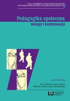 Ebook Pedagogika społeczna: wstępy i kontynuacje pdf