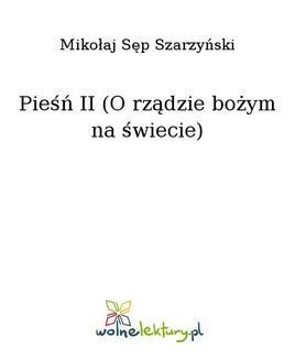 Ebook Pieśń II (O rządzie bożym na świecie) pdf