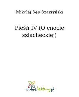 Ebook Pieśń IV (O cnocie szlacheckiej) pdf