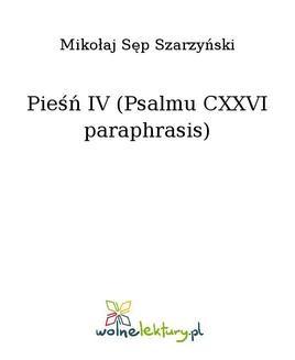 Ebook Pieśń IV (Psalmu CXXVI paraphrasis) pdf