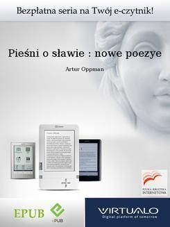 Ebook Pieśni o sławie : nowe poezye pdf