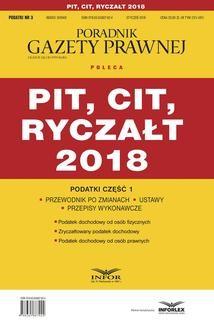 Chomikuj, ebook online PIT, CIT, ryczałt 2018. Podatki część 1. Opracowanie zbiorowe