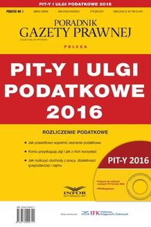 Chomikuj, pobierz ebook online PIT-y i ulgi podatkowe 2016. Grzegorz Ziółkowski