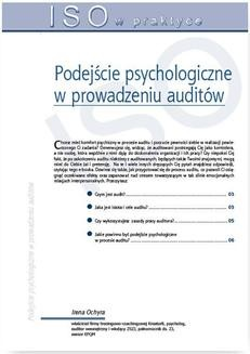 Ebook Podejście psychologiczne w prowadzeniu auditów pdf