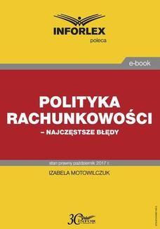 Ebook Polityka rachunkowości najczęstsze błędy pdf