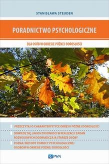 Chomikuj, ebook online Poradnictwo psychologiczne dla osób w okresie późnej dorosłości. Stanisława Steuden