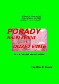 Ebook Porady małej Ewuni dużej pdf