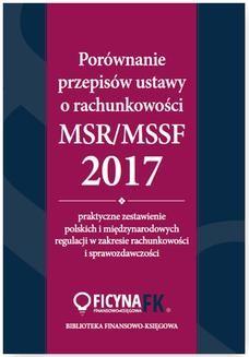 Chomikuj, pobierz ebook online Porównanie przepisów ustawy o rachunkowości i MSR/MSSF 2017. Katarzyna Trzpioła
